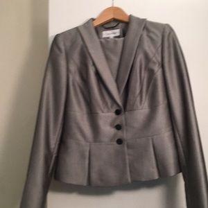 Calvin Klein Gray Suit Size 8